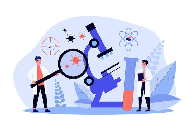Scienziati che fanno ricerche sul coronavirus