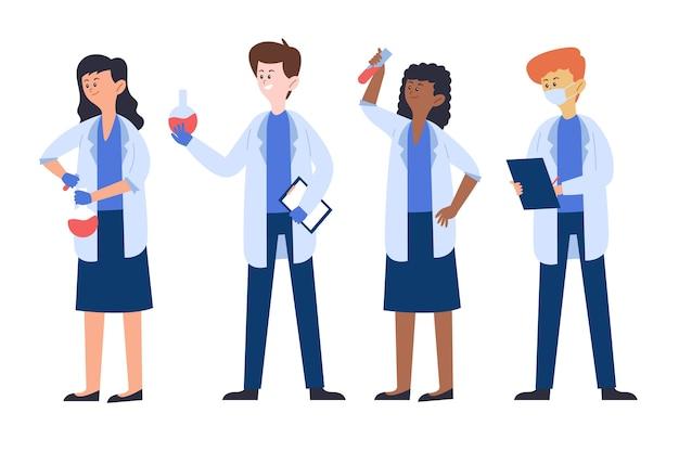 Concetto di lavoro di scienziati