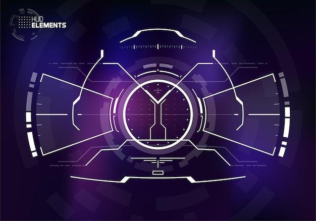 Design del display dell'interfaccia utente scifi per l'hud futuristico militare e spaziale