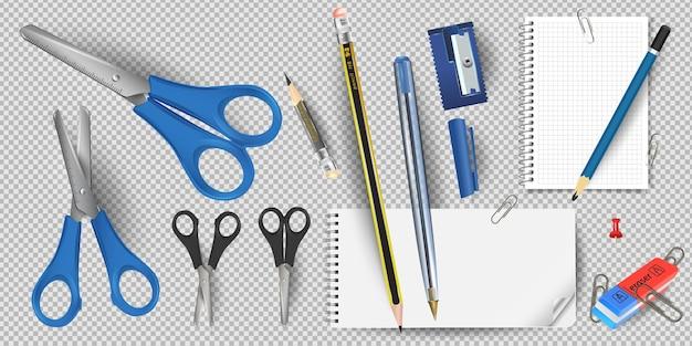 Forbici isolate. le forbici sono strumenti da taglio manuali. stazionario.