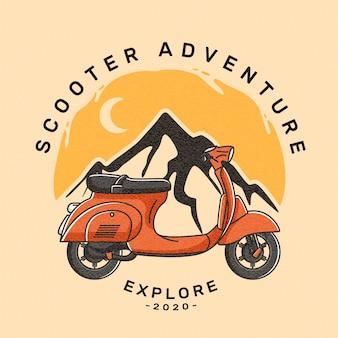 Trasporto di scooter logo emblema