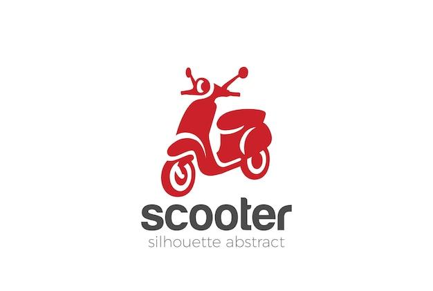 Icona del logo di scooter.