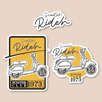 Scooter rider logo vintage