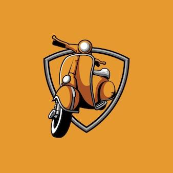 Scooter shield design illustrazione