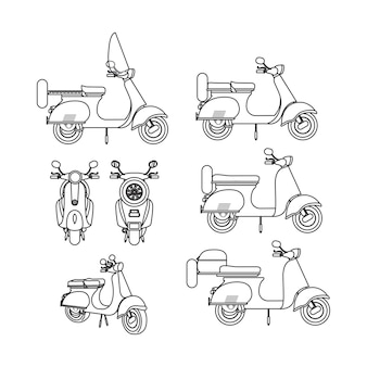 Design in stile scooter