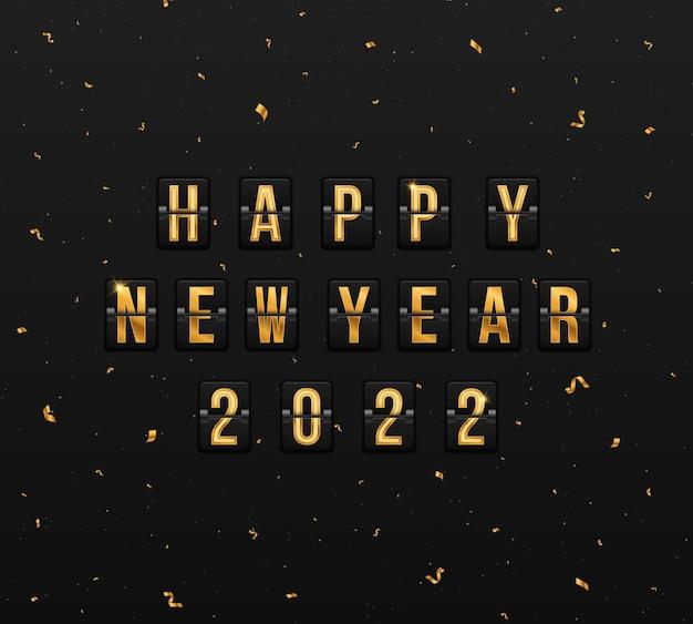 Tabellone segnapunti per felice anno nuovo 2022 quadro per il nuovo anno cartolina festiva