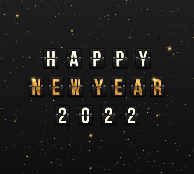 Quadro di valutazione per felice anno nuovo 2022