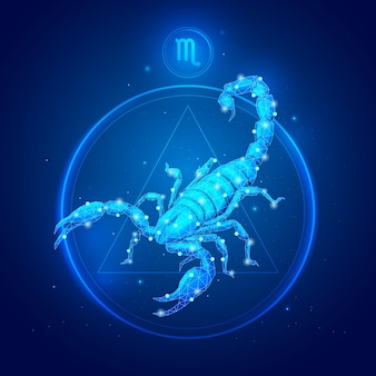 Segno zodiacale scorpione in cerchio
