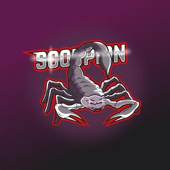 Logo della mascotte della squadra di e-sport scorpion