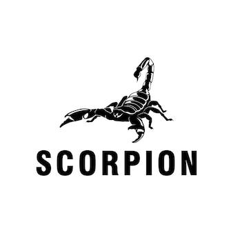 Re scorpione logo nero design logo ispirazione