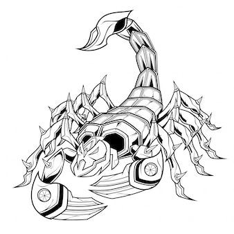 Scorpion line art illustration