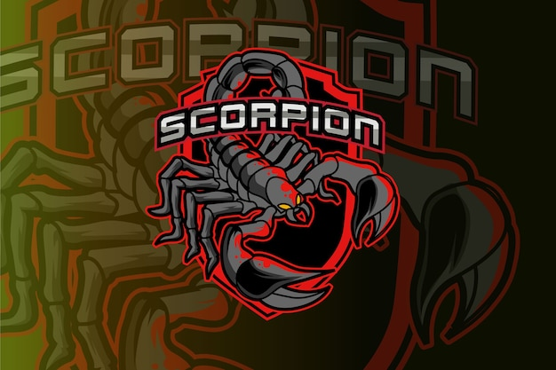 Logo dello scorpione per club sportivo o squadra. logotipo mascotte animale.