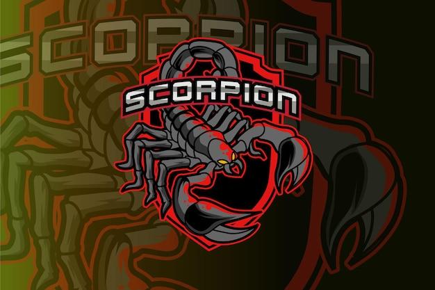 Logo dello scorpione per club sportivo o squadra.