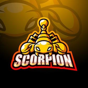 Illustrazione di esport di mascotte scorpione