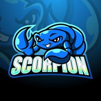 Illustrazione di esport della mascotte dello scorpione