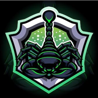 Mascotte dello scorpione. design del logo esport