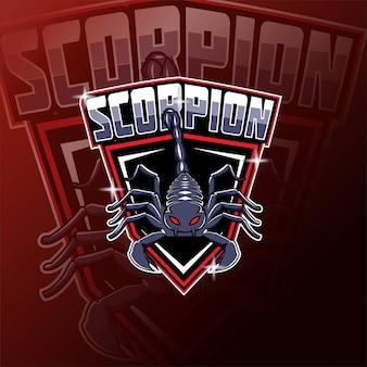 Logo della mascotte della squadra di e-sport di scorpions