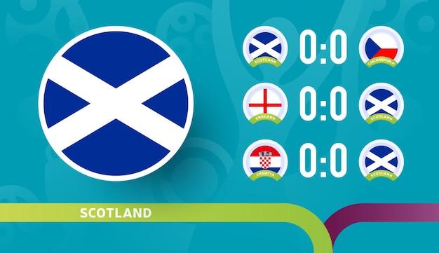 La nazionale scozzese programma le partite nella fase finale del campionato di calcio 2020