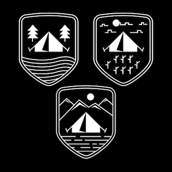 Scout boy adventure o mountaineering club camp distintivo semplice o emblema