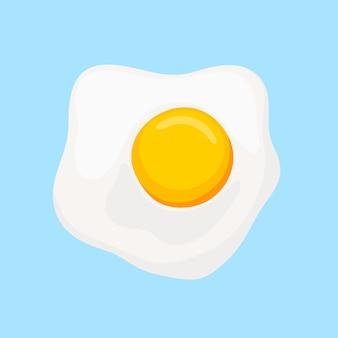 Uova strapazzate con vista dall'alto di tuorlo giallo