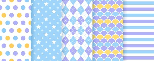 Sfondo scrapbook. vettore. seamless pattern. stampe carine per il design di scarto. illustrazione geometrica