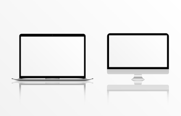 Mockup vettoriale dello schermo mockup del monitor dello smartphone del telefono con schermo vuoto png