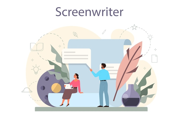 Concetto di sceneggiatore