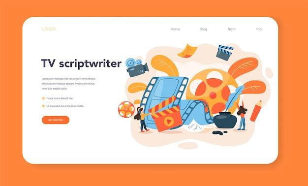 Banner web o pagina di destinazione dello sceneggiatore