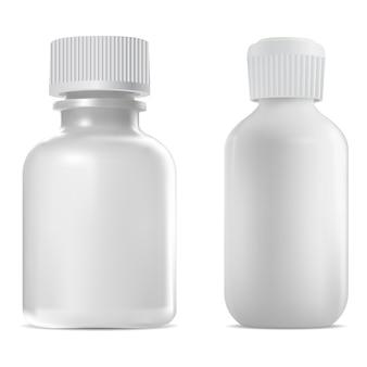 Bottiglia con tappo a vite, fiala medica