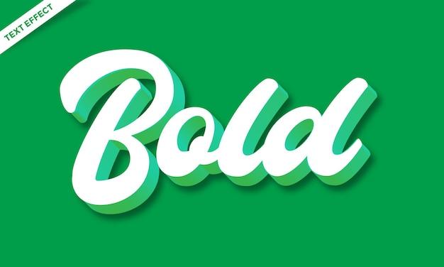 Script effetto testo 3d bianco e verde o effetto carattere