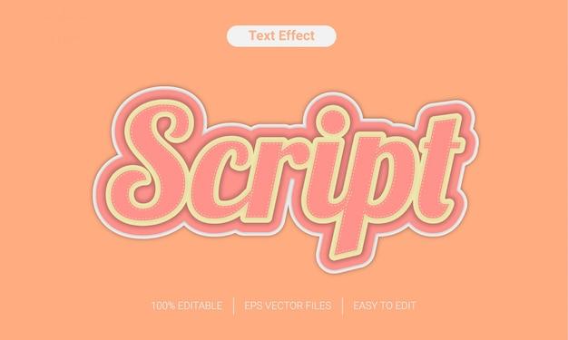 Script con effetto stile testo a colori liscio e divertente