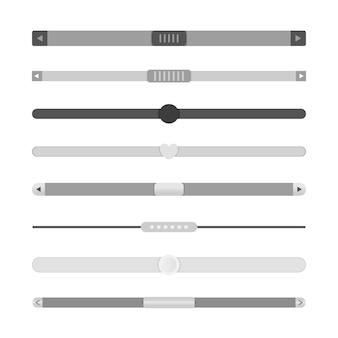 Set di barre di scorrimento. barre di scorrimento del modello di progettazione del sito web