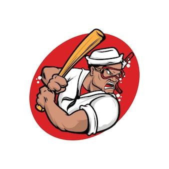 Illustrazione del logo della squadra di baseball subacqueo