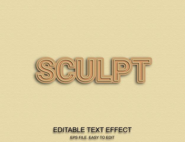 Scolpisce l'effetto del testo