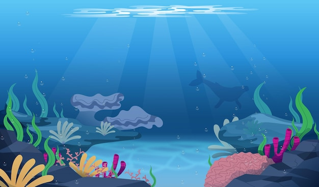 Sotto il mare - sfondo per le videoconferenze