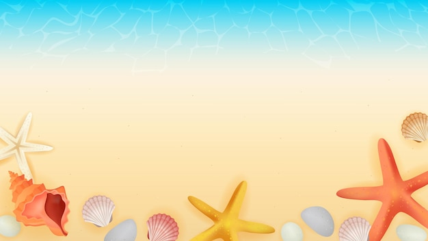 Illustrazione del fondo della spiaggia del mare