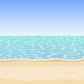 Sfondo di mare e spiaggia