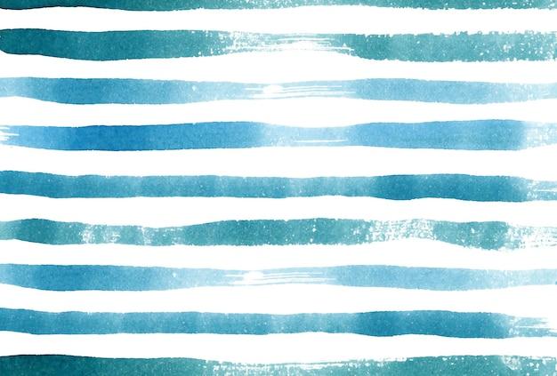 Carta da parati dell'acquerello del fondo delle bande blu navy del mare