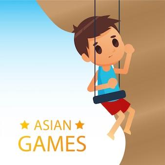 Illustrazione di giochi di mare