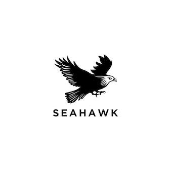 Modello di progettazione di logo di sea hawk