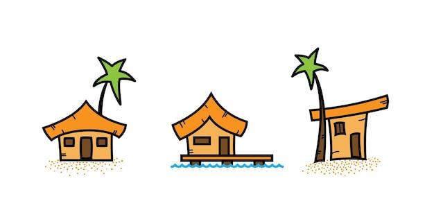 Illustrazione semplice dell'icona della casa di mare