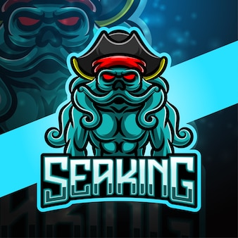 Sea king sport mascotte logo design
