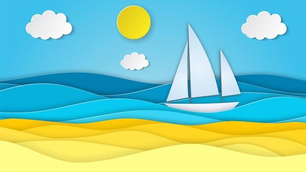 Paesaggio marino con spiaggia