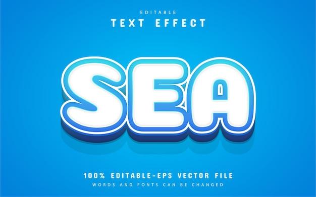 Testo di mare, effetto di testo in stile cartone animato