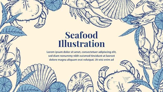 Illustrazione di frutti di mare