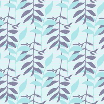 Seamles motivo floreale minimalista con ornamento fogliame.