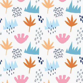 Seamless pattern astratto con forme geometriche