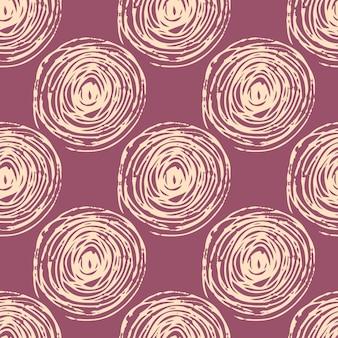 Modello astratto senza cuciture con spirali leggere. sfondo viola.