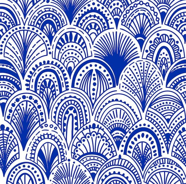 Modello d'onda astratto senza soluzione di continuità. illustrazione vettoriale ornamentale