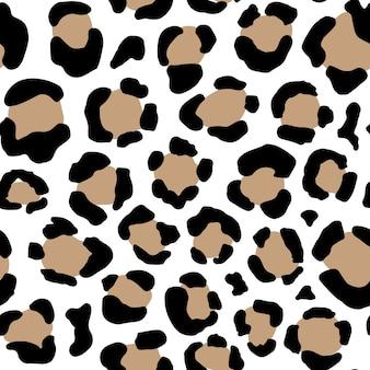 Modello animale senza soluzione di continuità con punti grunge leopardo. texture selvaggia creativa per tessuti, confezioni, tessuti, abbigliamento. illustrazione vettoriale